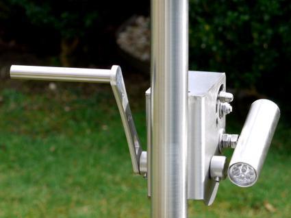 LIBATHERM Grillgalgen, 0 Euro Versandkosten, Grillgalgen-Komplett-Set, Auslegerweite 50 cm, Edelstahl-Grillrost 50 cm Durchm. mit entnehmbaren 8 mm Stäben + Bodenrohr - Vorschau 2