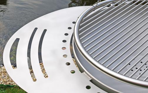 LIBATHERM Schwenkgrill, 0 Euro Versandkosten, kompl. Edelstahl V2A, Feuerschale 70 cm Durchm., Grillrost 60 cm Durchm. mit einzeln entnehmbaren 8 mm Stäben und Beleuchtung des Grillrostes - Vorschau 4