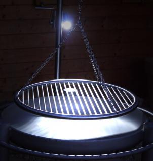 LIBATHERM Schwenkgrill, 0 Euro Versandkosten, Feuerschale 70 cm Durchm., Edelstahl-Grillrost 60 cm durchm., Edelstahl Grillgalgen mit Beleuchtung - Vorschau 3