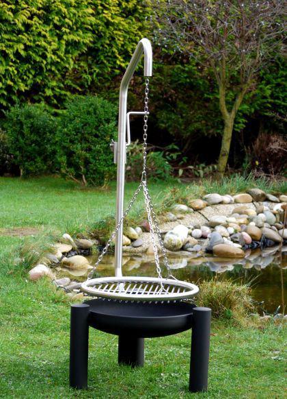 schwenkgrill feuerschale grill mit beleuchtung kaufen bei libatherm schwenkgrills. Black Bedroom Furniture Sets. Home Design Ideas