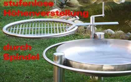 LIBATHERM Schwenkgrill, 0 Euro Versandkosten, 70 cm Durchm., Edelstahl Grillrost 600 cm, 8mm Stäbe - Vorschau 3