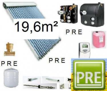 Neues Solar-Paket (Röhrenkollektoren) 19, 6m²