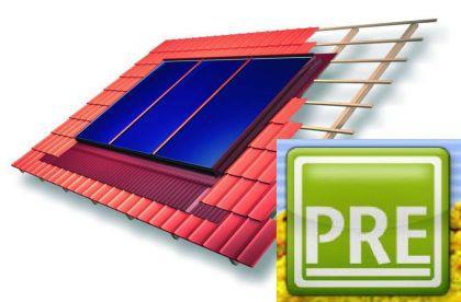 neu solaranlage indach 6 21m f r pufferspeicher kaufen bei p r e. Black Bedroom Furniture Sets. Home Design Ideas