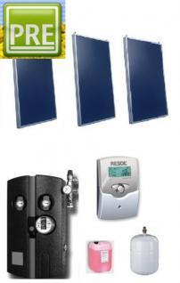 neues solar paket flachkollektoren 6 45m kaufen bei p r e. Black Bedroom Furniture Sets. Home Design Ideas