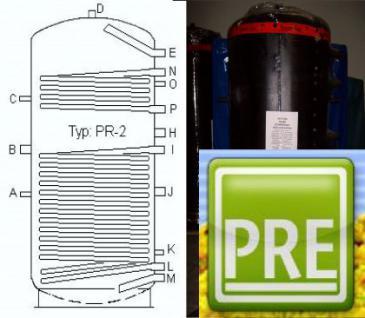 Neu Pufferspeicher 800 Liter mit 2 WT Solar Heizen