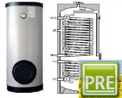 NEU Wärmepumpen Speicher 400 L 2 WT Heizung Solar