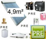 """NEU Solar-Paket Röhrenkollektor """"ab"""" 4, 9m² Röhren"""