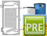 Elektrospeicher 200 L für Wärmepumpe Trinkwasser