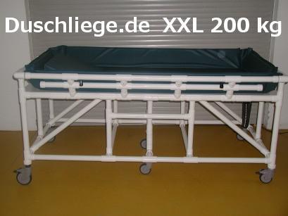 XL Duschwagen 200 kg Duschliege Transportliege