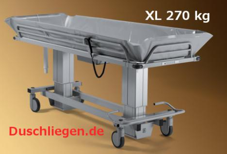 duschwagen 190 cm optimierte berfahrbarkeit elektrisch 150 kg duschliege transportliege. Black Bedroom Furniture Sets. Home Design Ideas