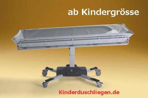 Duschwagen 190 cm optimierte ÜBERFAHRBARKEIT hydraulisch Duschliege Transportliege