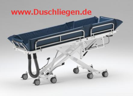 200 kg, ERSCHÜTTERUNGSARM, kippbar, hydraulisch, 5 J Garantie, Duschliege Duschwagen Transportliege