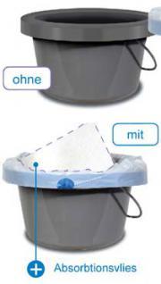 40 hygienebeutel f r toilettenstuhl restposten kaufen bei demenzeinrichtungsberatung. Black Bedroom Furniture Sets. Home Design Ideas