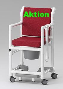 Transportstuhl, Toilettenstuhl 150 kg mit Polster Toilettensitzerhöhung Zimmerstuhl Duschstuhl Nachtstuhl Profi