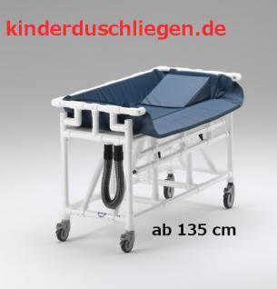 Jugendgrösse 180x80 variables Rückenteil Duschwagen Duschliege Transportliege