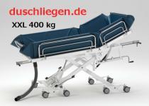 Duschwagen 400 kg, BEATMUNGSPATIENTEN, tiefer Einstieg, 5 J Garantie, hydraulische Duschliege