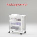 MRT Stationswagen Radiologie Pflegewagen transparent Hygiene RCN