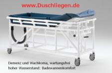 Duschwagen Rückenhöhe verstellbar Duschliege Transportliege Wachkoma