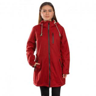 Gr. 42 Rot - Killtec Jacke Parka Gr. 42 Casual Mantel Damen Soft Shell Metava - Rot