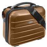 "Beauty Case "" London"" 12 L - Kosmetikkoffer Schminkkoffer Business Koffer Gold"