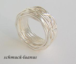 Wickelring aus silberdraht kaufen bei schmuck luanus for Silberdraht kaufen