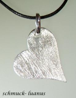 Silber Anhänger Herz matt