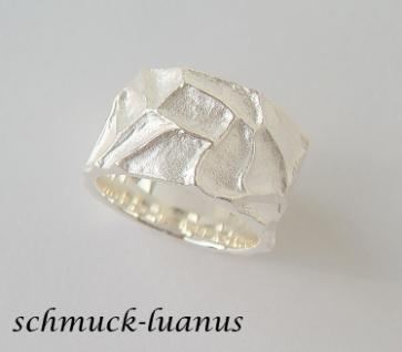 Silberring breit matt