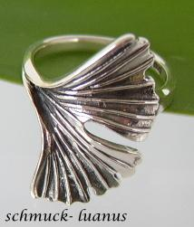 Gingko Ring Silber Kaufen Bei Schmuck Luanusyategocom
