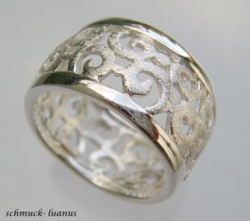 Silberring matt filigran