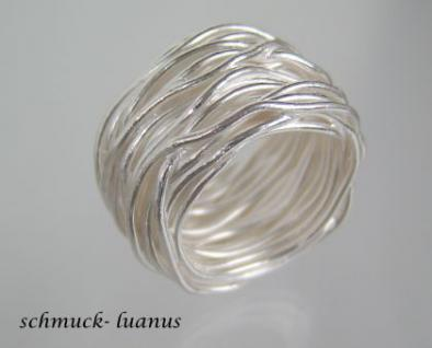 Breiter silberring gewickelt kaufen bei schmuck luanus for Silberdraht kaufen