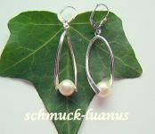 Perlen Ohrringe Silber