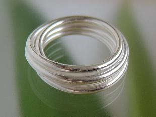 Silberring wickelring silber kaufen bei schmuck luanus for Silberdraht kaufen