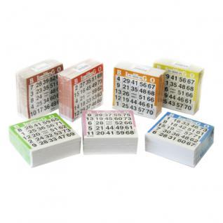 Bingotickets 1-75 - 10500 Stück