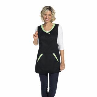 Chasuble - Überwurfschürze - schwarz-hellgrün - 80x60 cm