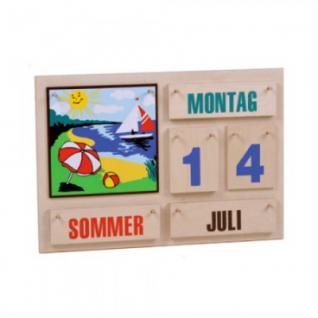 Jahreskalender - bunte Schrift - Holz - 35 x 50 cm