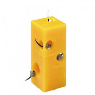 Handgearbeitete Kerze in Käseform - ca 17 cm