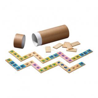 Bilder-Domino - Bambus - 28 Spielsteine