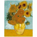 120 Teile Puzzle Dose - Van Gogh - Zwölf Sonnenblumen in einer Vase