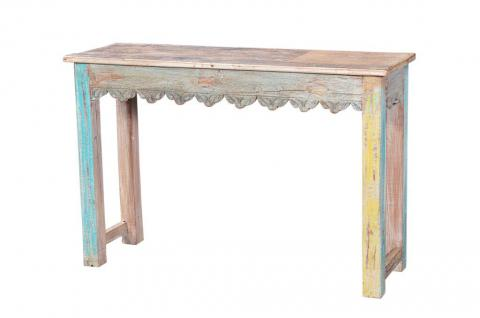 Kolonialstil schlanker Tisch recycled aus altem Fenster - Vorschau