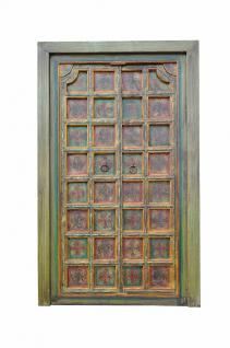 INDIA hundred year old garden DOOR PANEL with antique floral painting D ED-11-31