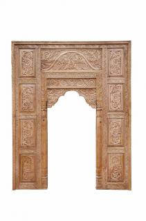 India Mughal Empire großer Fensterrahmen Bogen hoch geschnitztes Holz