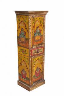 Bunte Kunst INDIA Hochschrank mit Malerei & Raja Rani am Hof - Vorschau