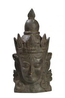 Indien 1880 großartige Tempelmaske Gottheit Relief Portrait Teakholz von Luxury-Park
