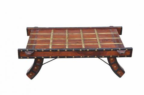 INDIA Rajasthan impressive wooden coffee table made from old ox cart D ED-11-46