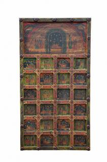 INDIA Gujarat painted wooden panel stories of Krishna wall picture D ED-11-66-02