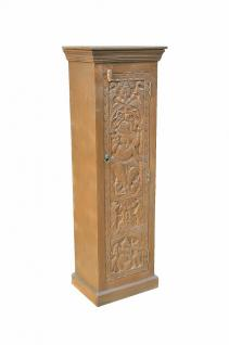 fine art INDIA tall cabinet armoire w Ganesha carving on natural wood D ED-11-52