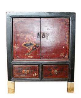 China 1890 Kommode Nachtschrank Schubladen & Türen klassisch lackiert
