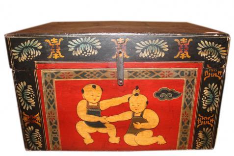 China ca 1940 kleine Truhe Schmuck Schatulle feine Bemalung - Vorschau
