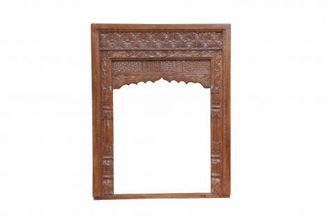 Indien Rahmen Fenster Dekorbogen Innenbereich geschnitztes Holz