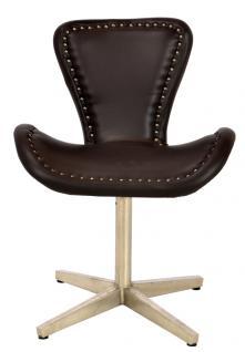 NEU aircraft möbel Aluminium Leder revolving chair Drehstuhl - Vorschau